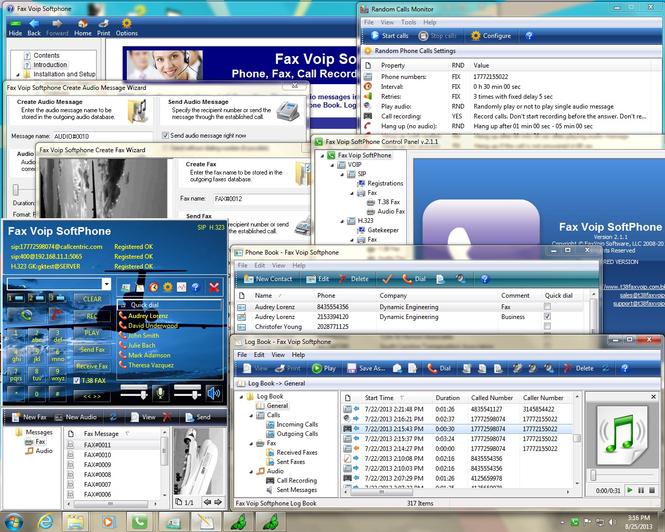 Fax Voip Softphone Screenshot