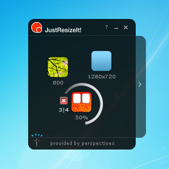 JustResizeIt free Screenshot