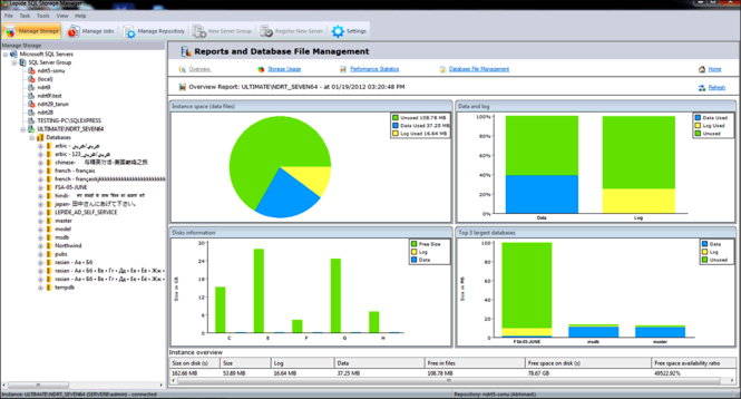 SQL Server Management Software Screenshot