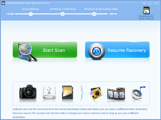 Formatted SD Card Recovery Pro Screenshot 1
