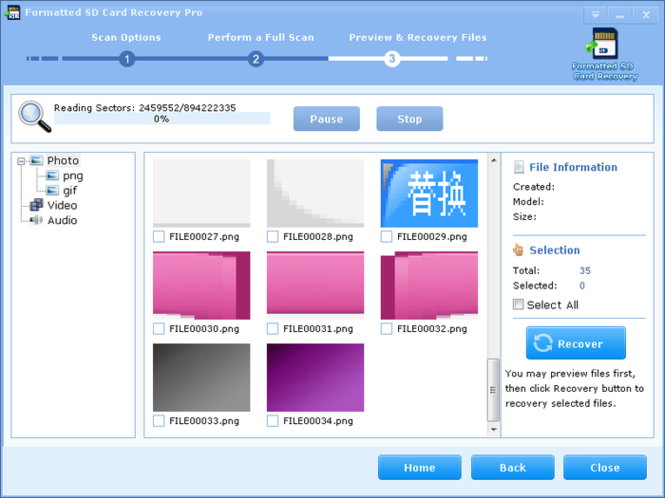 Formatted SD Card Recovery Pro Screenshot 3