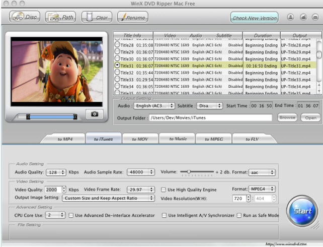 WinX Free MOV to MP4 Converter Screenshot 2