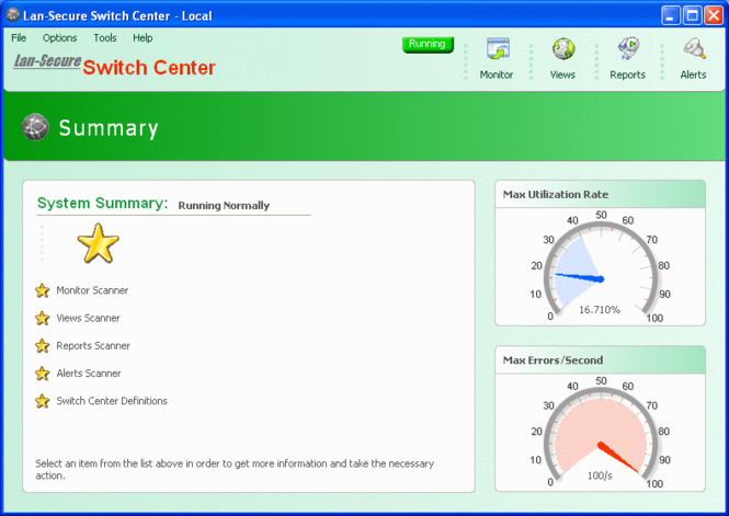 Lan-Secure Switch Center Enterprise Screenshot