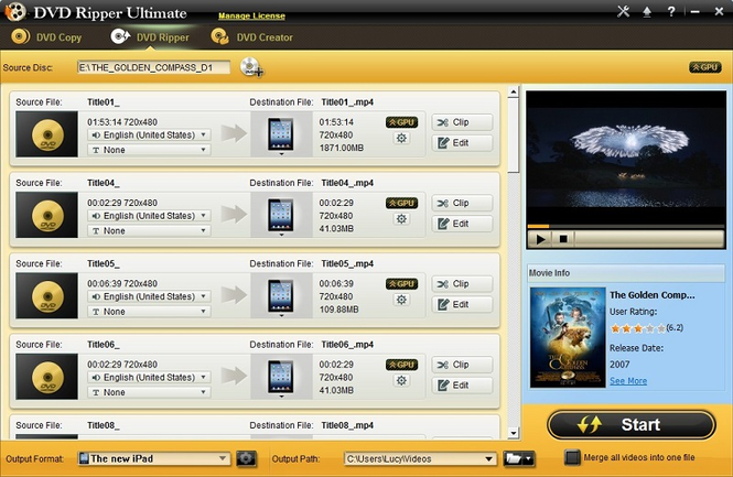 Xinfire DVD Ripper Ultimate Screenshot