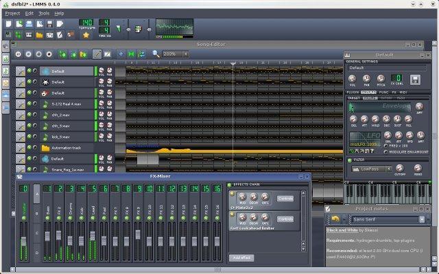 Linux MultiMedia Studio Screenshot