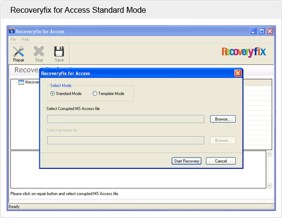Repair Access File Screenshot 1