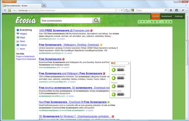 WOT for Firefox Screenshot 1