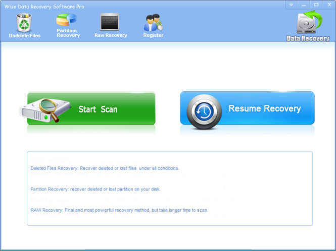 Advanced Data Recovery Screenshot