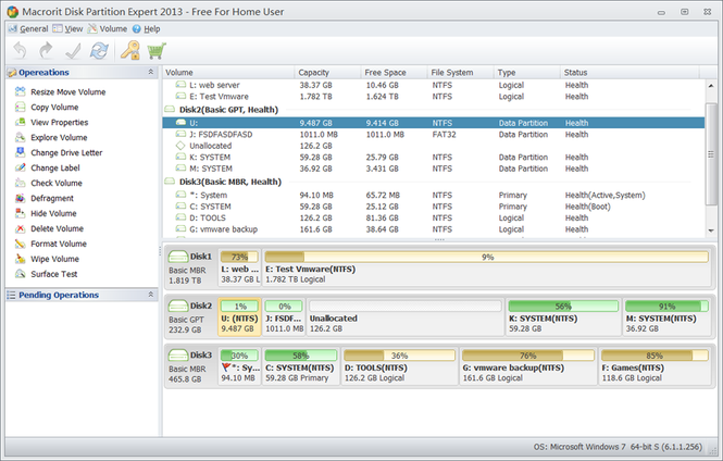Macrorit Disk Partition Expert Home Edition Screenshot