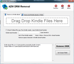 AZW DRM Removal Screenshot 1