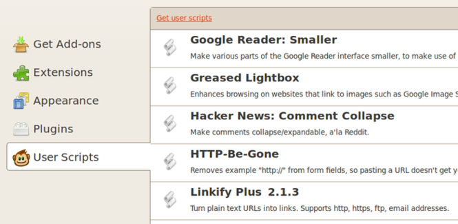 Greasemonkey Screenshot