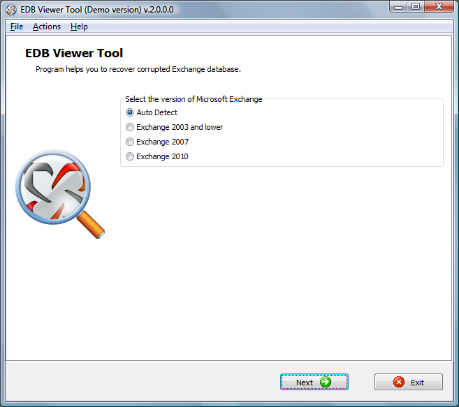 EDB Viewer Tool Screenshot 1