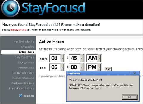 StayFocusd Screenshot 2
