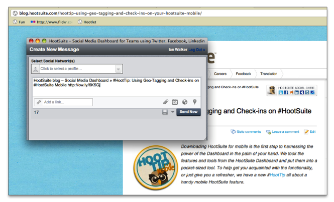 HootSuite Hootlet Screenshot 2