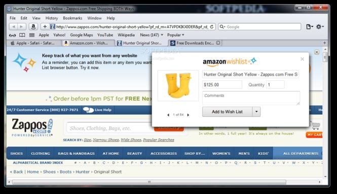 Amazon Wish List Screenshot