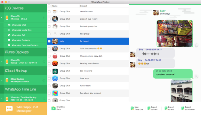 WhatsApp Pocket for Mac Screenshot