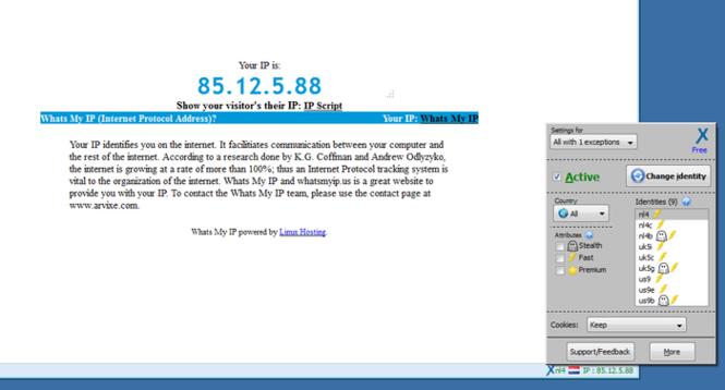 anonymoX Screenshot 2