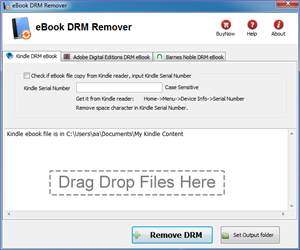 eBook DRM Removal Screenshot