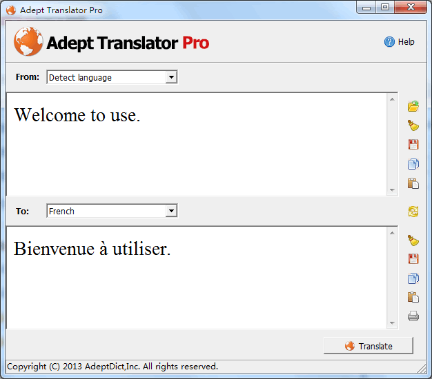Adept Translator  Pro Screenshot