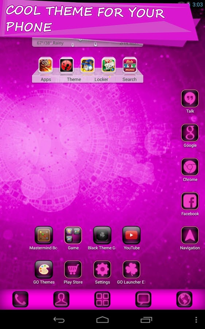 Cyanogen Pink Theme Screenshot