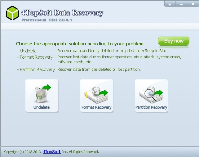 4Topsoft Data Recovery Screenshot