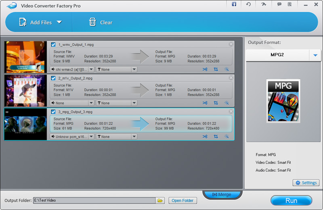 Video Converter Factory Pro Screenshot 1