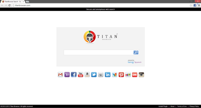 Titan Browser Screenshot 1