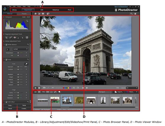 CyberLink PhotoDirector Screenshot