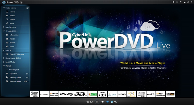 CyberLink PowerDVD Live Screenshot