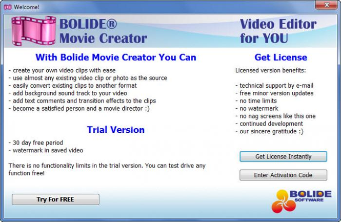 Bolide Movie Creator Screenshot