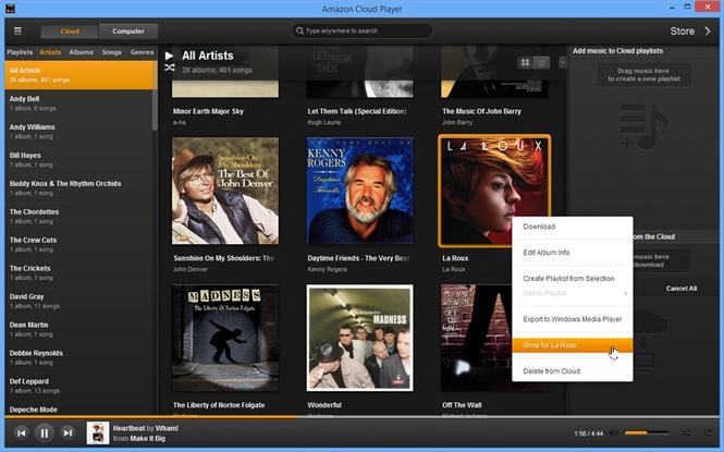 Amazon Cloud Player Screenshot