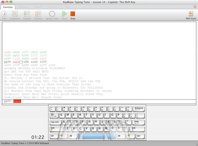 KeyBlaze Typing Tutor For Mac Screenshot 1
