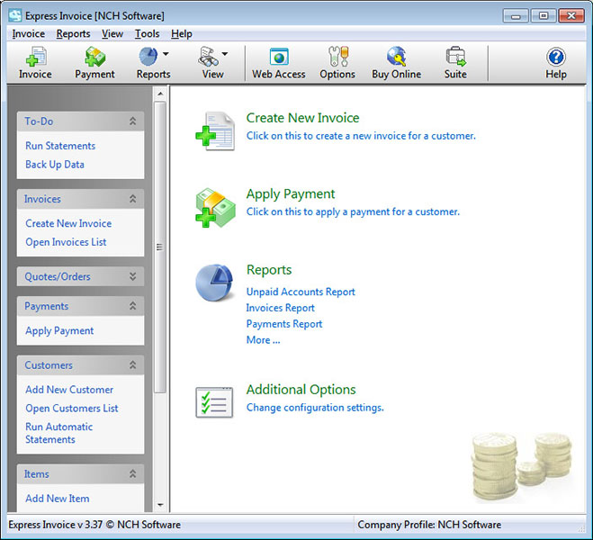 Express Invoice Free Invoicing Software Screenshot