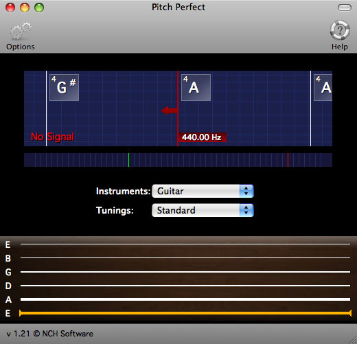 PitchPerfect Guitar Tuner for Mac Screenshot