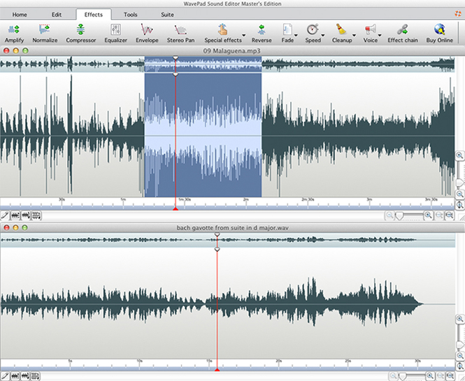 Wavepad Free Audio Editor for Mac Screenshot 1