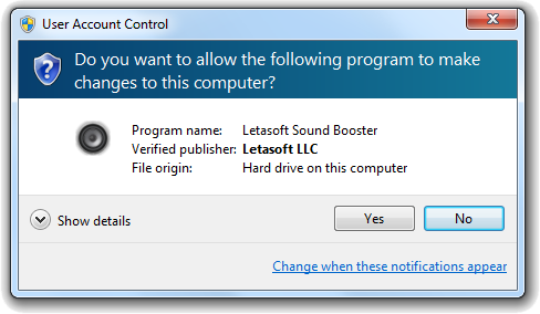 Letasoft Sound Booster Screenshot