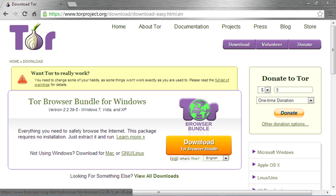 what is the tor browser bundle