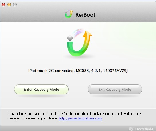 Tenorshare ReiBoot for Mac Screenshot 1