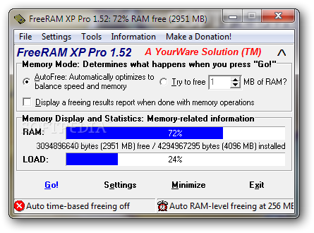 FreeRAM XP Pro Screenshot