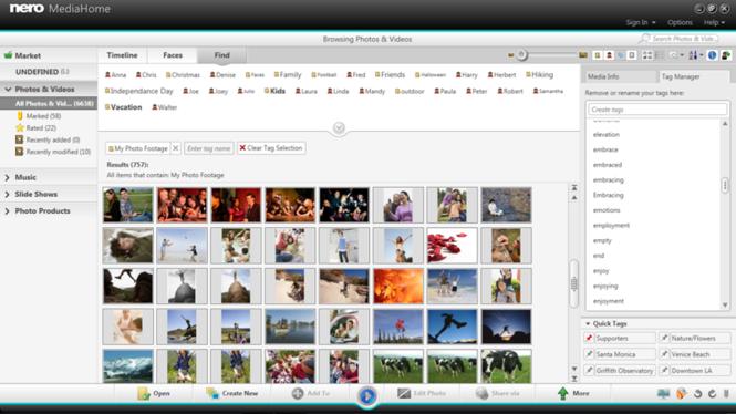 Nero MediaHome Screenshot