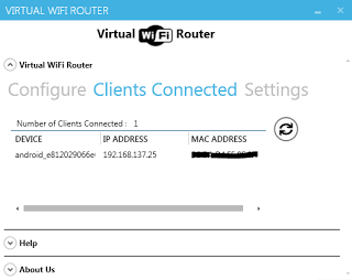 Virtual WiFi Router Screenshot 2