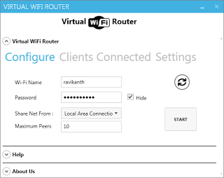 Virtual WiFi Router Screenshot 4
