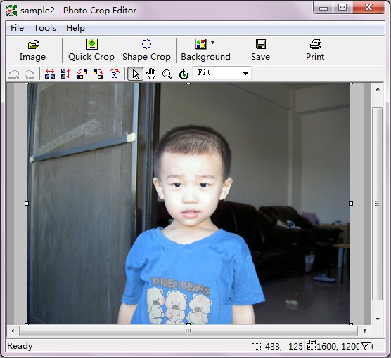 Photo Crop Editor Screenshot