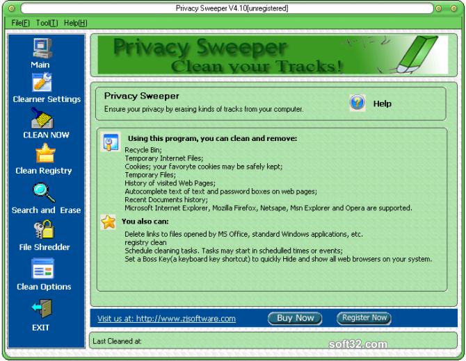 Privacy Sweeper Screenshot 2
