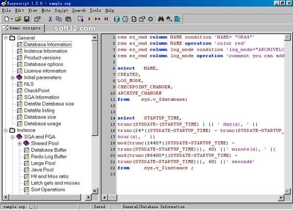 Easyscript for Oracle Screenshot 2