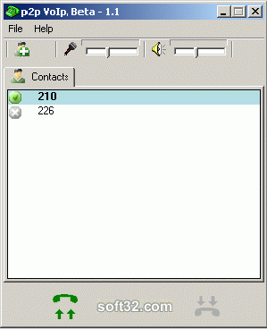 P2P VoIp Screenshot 2