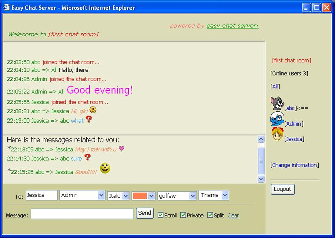 Easy Chat Server Screenshot