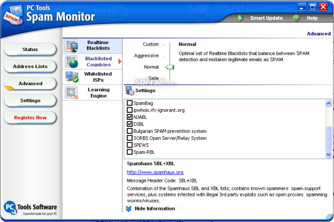 Spam Monitor Screenshot 4