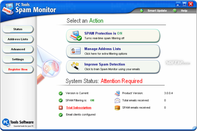 Spam Monitor Screenshot 2