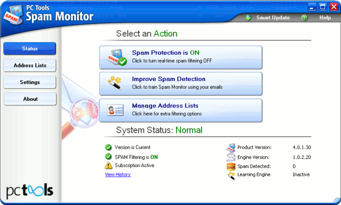 Spam Monitor Screenshot